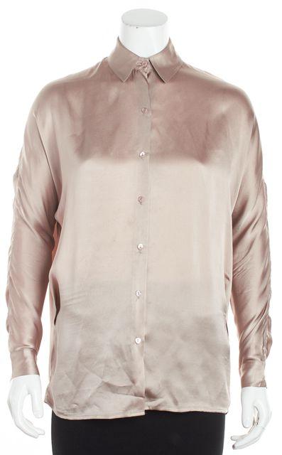 VINCE Pale Blush Pink Button Down Blouse