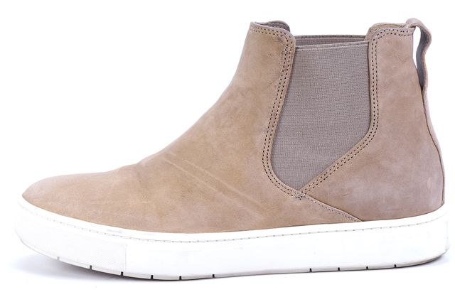 VINCE Beige Suede Leather Slip-on Sneakers