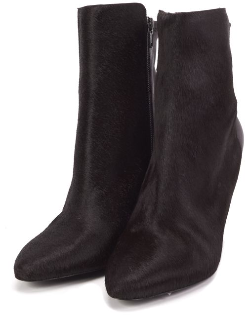 VINCE /NWB Brown Calf Fur Wedge Boots