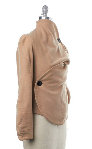 VIVIENNE WESTWOOD ANGLOMANIA Beige Deformed Asymmetric Jacket Size 8