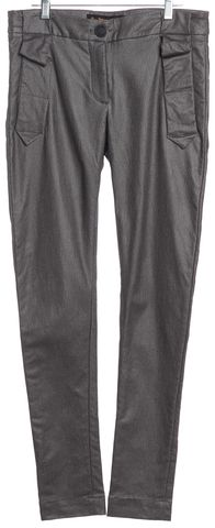 VIVIENNE WESTWOOD ANGLOMANIA Silver Coated Casual Pants