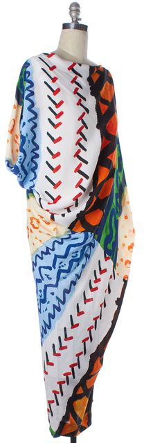VIVIENNE WESTWOOD ANGLOMANIA Multi-Color Printed Blouson Maxi Dress