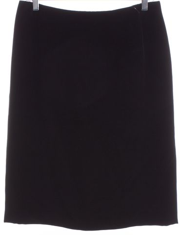 VALENTINO Black Straight Skirt