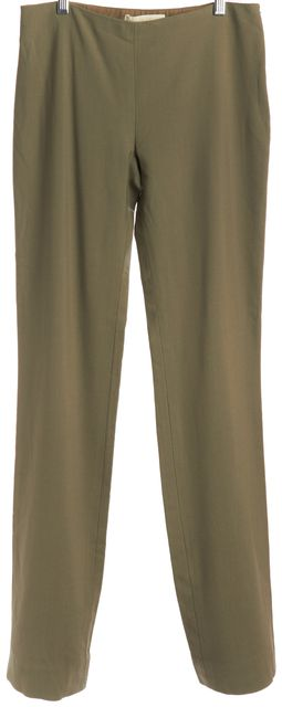 VALENTINO Olive Green Wool Dress Pants