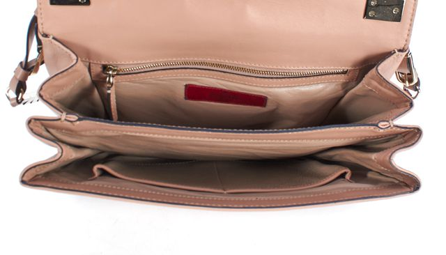 VALENTINO Pale Pink Leather Crossbody Bag