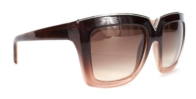 VALENTINO Brown Gradient V674S 216 Square Frame Sunglasses