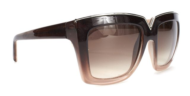 VALENTINO Brown Gradient V674S 216 Square Frame Sunglasses
