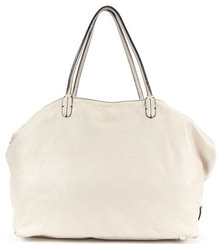 VALENTINO Gray Nappa Leather Large Petale Tote Bag