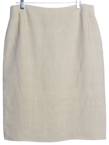 VALENTINO Beige Straight Skirt