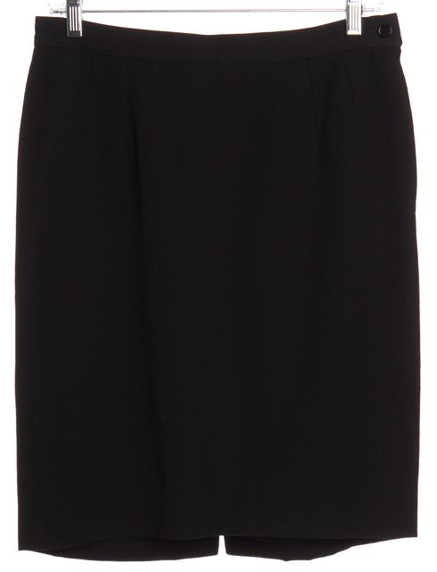 VALENTINO Black Pencil Skirt