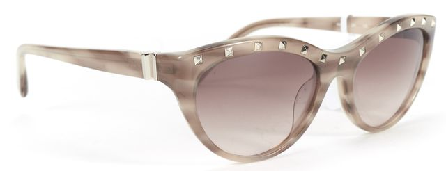 VALENTINO Nude Striped Rockstud Embellished Sunglasses