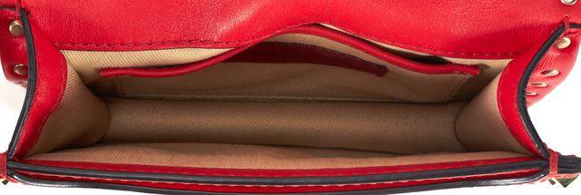VALENTINO True Red Leather Gold-Tone Rockstud Embellished Mini Shoulder Bag