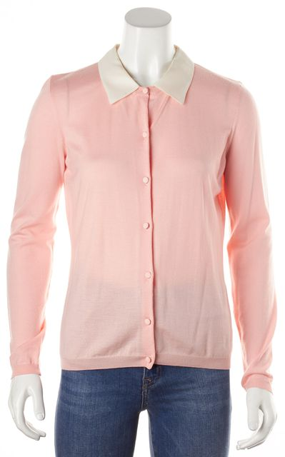 VALENTINO Pink Cardigan With Attachable Collar Fits Like