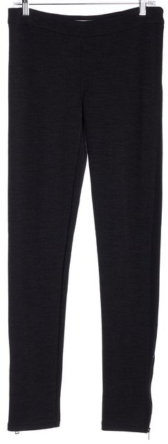 VALENTINO Dark Gray Casual Pants Black Trim Side Detail