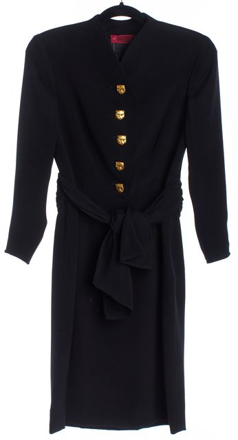 VALENTINO Black Panther Button Blouson Dress