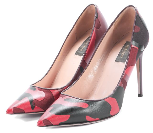 VALENTINO Red Camo Pump Heels