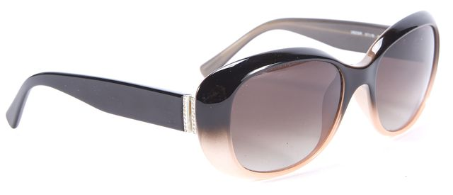 VALENTINO Black and Beige Ombre V620SR Rectangular Sunglasses