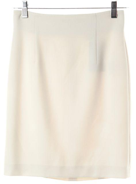 VERSACE Ivory Above Knee Pencil Skirt