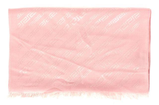 VERSACE Baby Pink Monogram Silk Wool Scarf