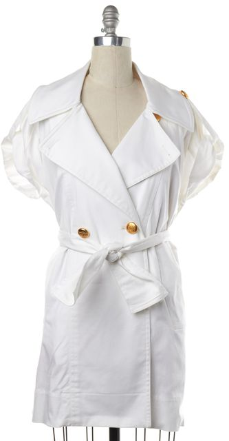 VIVIENNE WESTWOOD White Gold Button Double Breasted Jacket