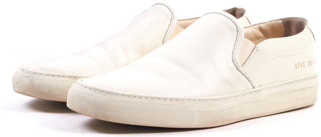 WOMAN BY COMMON PROJECTS Ivory Leather Tournament Slip-On Sneakers