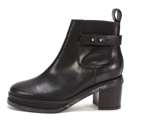 WHISTLES Black Leather Chelsea Ankle Boots