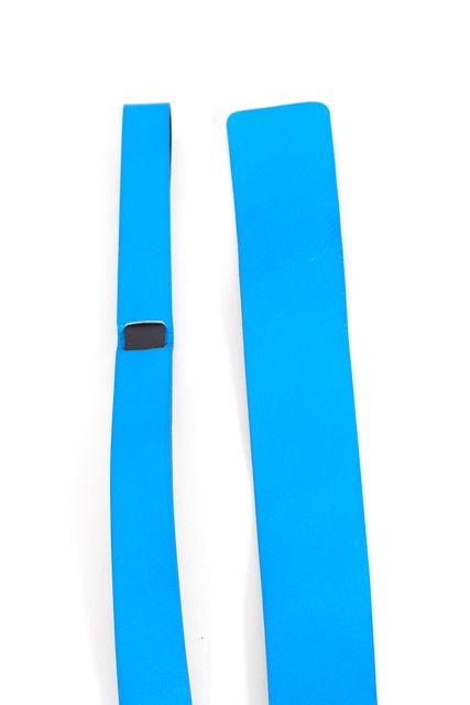 YOHJI YAMAMOTO Neon Blue Black Leather Belt