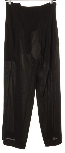 YOHJI YAMAMOTO Belted Black Trousers Pants