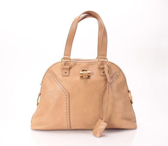 yves st laurent handbags sale - Yves Saint Laurent Light Brown Leather Large Muse Dome Handbag | eBay