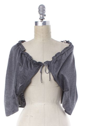 YVES SAINT LAURENT Gray Tie Cardigan