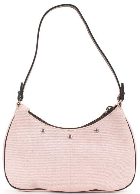 YVES SAINT LAURENT Light Pink Canvas Small Shoulder Bag