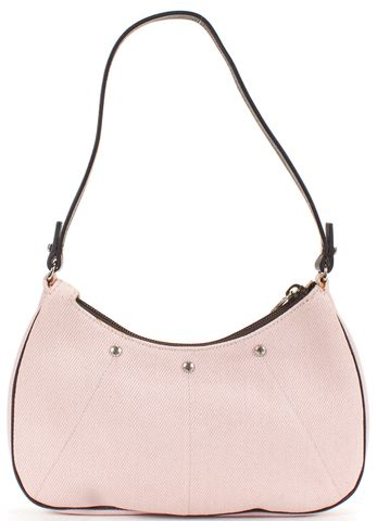 YVES SAINT LAURENT Light Pink Canvas Small Shoulder Bag