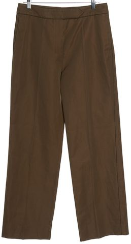 YVES SAINT LAURENT Brown Wide Leg Trouser Pants