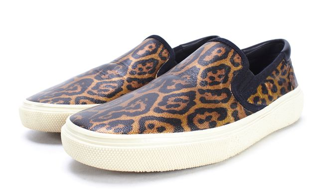 YVES SAINT LAURENT Leopard Print Slip On Sneaker