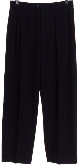 YVES SAINT LAURENT Blue High Waist Dress Pants