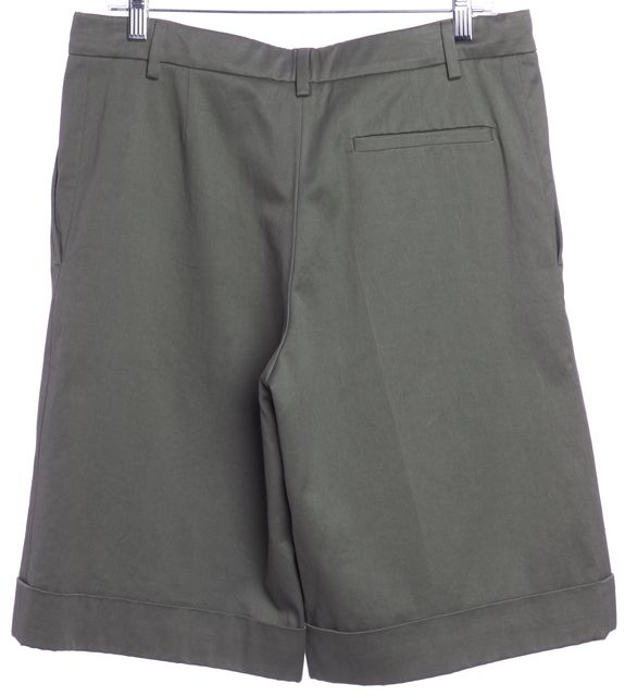 YVES SAINT LAURENT Green Khaki Bermuda Shorts
