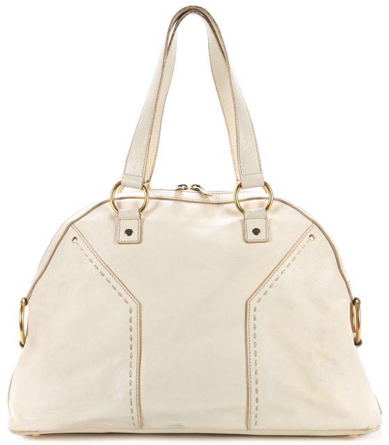 YVES SAINT LAURENT Beige Leather Muse Shoulder Bag