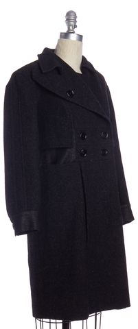 YVES SAINT LAURENT Gray Wool Coat