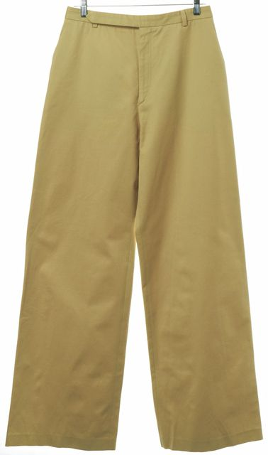 YVES SAINT LAURENT Mustard Yellow High Waist Wide Leg Dress Pants