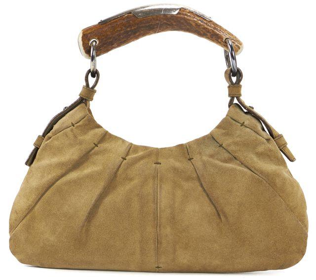 YVES SAINT LAURENT Olive Green Mini Mombasa Hobo Shoulder Bag