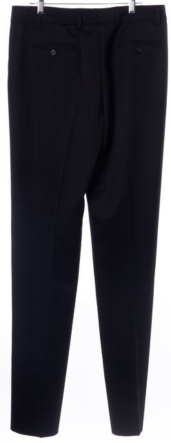 YVES SAINT LAURENT Black Wool Pleated Trouser Dress Pants