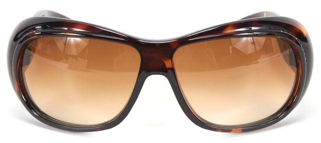 YVES SAINT LAURENT Brown Tortoise Shell Acetate Sunglasses w/ Case