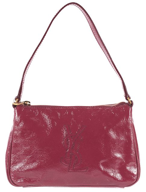 YVES SAINT LAURENT Red Patent Leather Mini Shoulder Bag