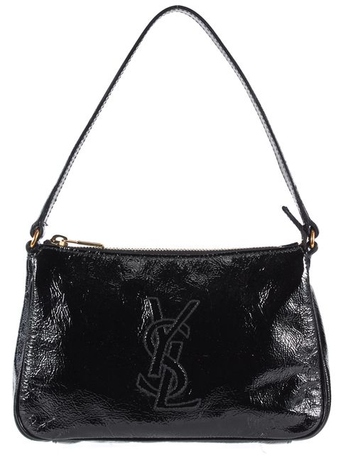 YVES SAINT LAURENT Black Patent Leather Mini Shoulder Bag
