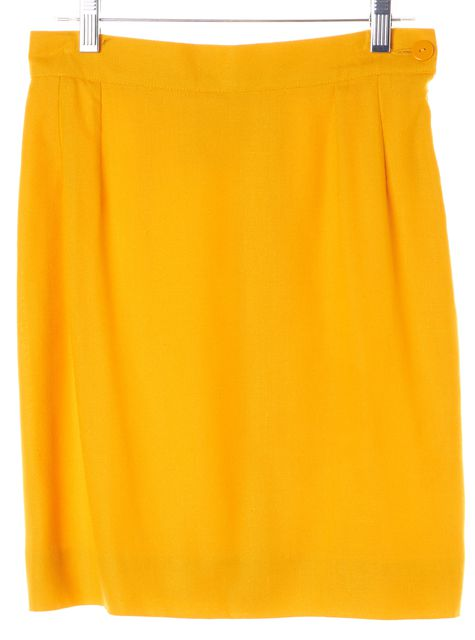 YVES SAINT LAURENT Goldenrod Yellow Straight Skirt