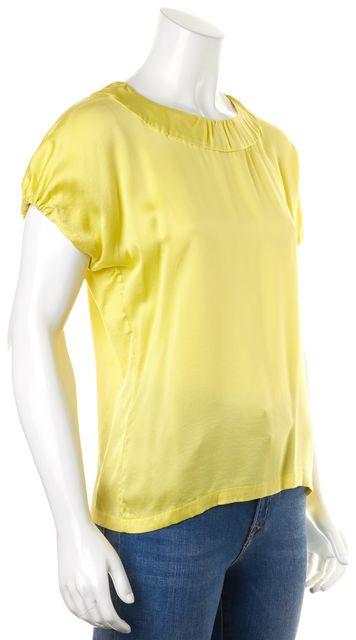 YVES SAINT LAURENT Yellow Silk Blouse