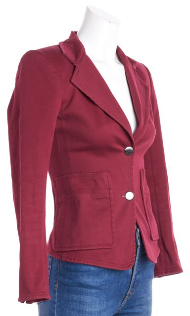 YVES SAINT LAURENT Red Two Button Blazer