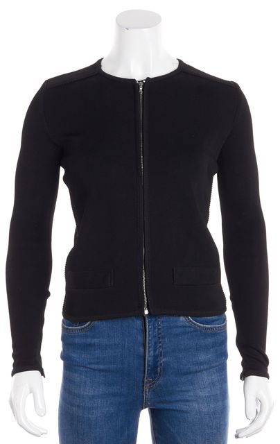 YVES SAINT LAURENT Black Basic Zip Front Jacket