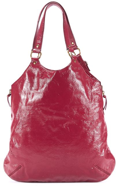 YVES SAINT LAURENT Pink Patent Leather Tribute Tote