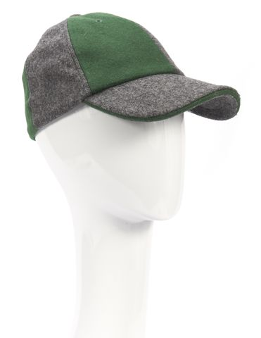 Y-3 NWT Green Gray Colorblock Wool Baseball Cap Hat